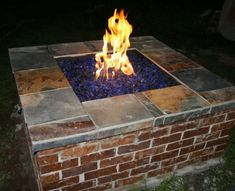diy firepit great way to use up old bricks