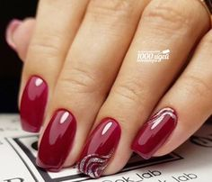 Nail art Christmas - the festive spirit on the nails. Over 70 creative ideas and tutorials - My Nails Gold Nails, White Nails, Pink Nails, Hair And Nails, My Nails, Luxury Nails, Nagel Gel, Nail Decorations, Simple Nails