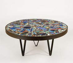 Mosaic Table by Lee Krasner, 1947  #Table #Mosaic_Table #Lee_Krasner