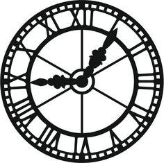 """Résultat de recherche d'images pour """"stencil horloge"""""""