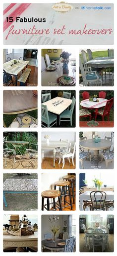 15 Fabulous Furniture Set Makeovers | curated by 'Art is Beauty' blog!