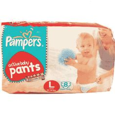 Pampers Active Baby Pants L 8Pcs Buy Online at lowest price in India: BigChemist.com