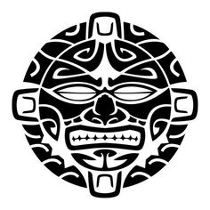 Stencil Maori Tribal Face Mask reusable stencils for quilting squares. Trace out beautiful designs and stitch freehand over the traced images. Tribal Tattoos, Black Tattoos, Body Art Tattoos, Sleeve Tattoos, Buddha Tattoos, Geometric Tattoos, Arm Tattoos, Tattoo Ink, Polynesian Tattoo Designs