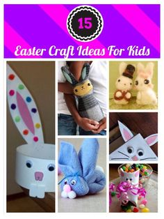 Looking for fun and easy Easter Crafts For Kids? Look no further...here are 15 easy and fun Easter crafts for toddlers to teens!