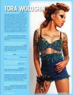 Tora Woloshin, October Southwest Regional Musician Magazine, Always Free!