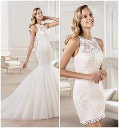 ¿Qué tal este modelo de Pronovias, un vestido de novia convertible?