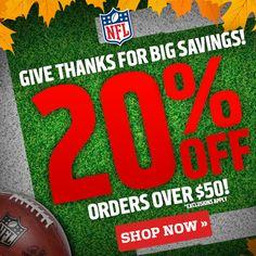 NFL Shop 20% Off