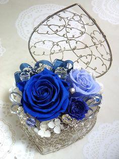 preserved flower リングピロー* Something Blue