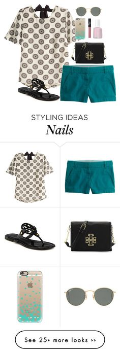 """Happy Labor Day! // day 248"" by littlebitofeverything on Polyvore featuring H&M, J.Crew, Tory Burch, Casetify, NARS Cosmetics, Essie and Ray-Ban"