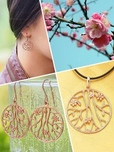 Prunus Sinensis, also known as the Chinese Plum, is an incredibly beautiful tree in blossom Romantic Flowers, Prunus, Tree Bark, Leather Cord, Rose Gold Plates, Plum, Chinese, Sterling Silver, Chain