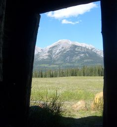 My mountain in Canmore Canada