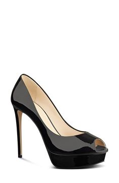 Nine West Edyln Patent Peep Toe Pump synthetic black 5.5h sz7.5 98.95 2/16