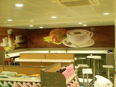 АЗС Шелл фучика - оклейка зоны кафе