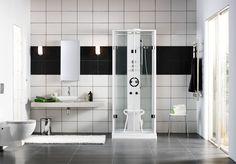Ylellinen suihkuratkaisu yhdistelee parhaat puolet saunasta, hieronnasta ja vesihöyrystä! - Luxurious steam room for bathroom.