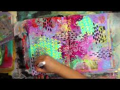Balzer Designs: Art Journal Every Day: Abstract Page Video