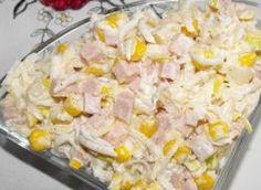 Pyszna i szybka do zrobienia u mnie w domu przez wszystkich lubiana.. Składniki: 2 słoiczki selera konserwowego, 1 puszka kukurydzy, 1 puszka ananasów, 1 por, około 40dag. szynki kosnerwowej lub też innej wędliny, sól, pieprz do smaku, majonez dekoracyjny winiary Good Food, Yummy Food, Easy Salads, Pasta Salad, Food Inspiration, Salad Recipes, Potato Salad, Food And Drink, Cooking Recipes