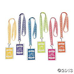 Luau Party Lanyards-party pass