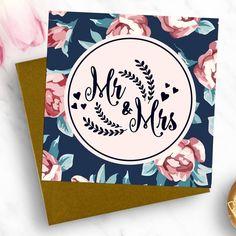 'Mr And Mrs' Luxury Wedding Card