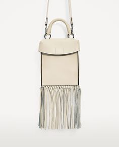 LEATHER CROSSBODY BAG WITH FRINGING