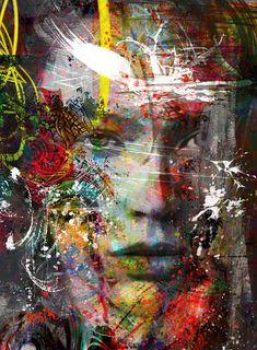 Yossi kotler arte-retratos-giclee print adornado