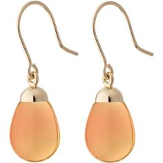 Earrings orange resin and gold ($270) ❤ liked on Polyvore featuring jewelry, earrings, orange jewelry, yellow gold earrings, yellow gold jewelry, earring jewelry and resin jewelry