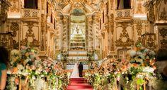 Cerimônia de casamento na Igreja da Nossa Senhora do Carmo da Antiga Sé, Rio de Janeiro.