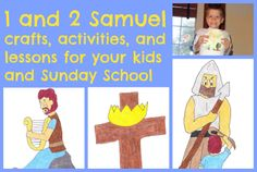 1 and 2 Samuel crafts, activities, and lessons for your kids and Sunday School