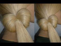 ▶ Причёска на каждый день/в школу за 5 минут:БАНТИК из волос для ТОНКИХ волос.Bow Hair.Peinados - YouTube