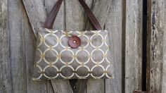 Handbag Purse Tote Bag in Pewter and Gold with by DandelionHoney