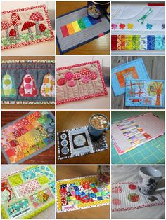 Ariane Quilts: Mug Rugs - Aren't they just the cutest!!! and my 300th post...Wowzer!!!!!
