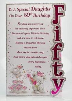 This is one of our top selling ladies 50th birthday cards offering great value