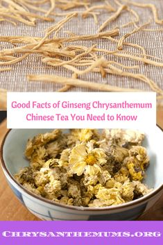 Good Facts of Ginseng Chrysanthemum Chinese Tea You Need to Know Chrysanthemum Chinese, Chinese Tea, Fun Drinks, Need To Know, Healthy Life, Fun Facts, Recipes, Food, Healthy Living