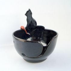Kitty cat on yarn bowl Made to order by WisperOn on Etsy https://www.etsy.com/listing/126526169/kitty-cat-on-yarn-bowl-made-to-order