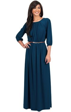 74a5ea8c1bd5 Plus Size Long Dress O-neck Slim Waist Three Quarter Sleeve Solid Fashion  Women Clothing Autumn Maxi Party Dresses Vestidos Sexy