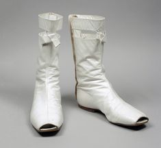 Boots, leather, André Courreges designer, French, 1965