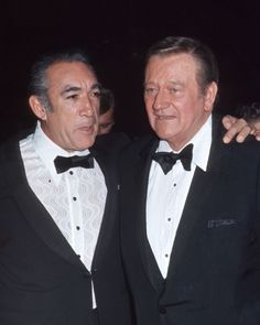 John Wayne and Anthony Quinn