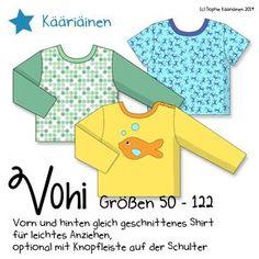 Vohi ist ein locker geschnittenes Shirt mit langen oder kurzen Ärmeln und optionaler Knopfleiste. Der Schnitt eignet sich ...