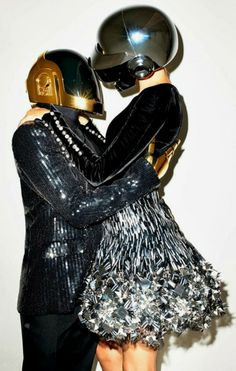 Daft Punk & Gisele Bündchen. Photo: Terry Richardson for the WSJ magazine.