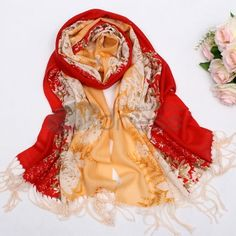 Wool Scarves-Ladies warm wool scarf