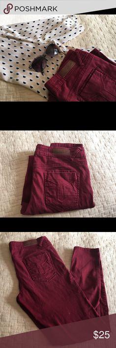 Vigold skinny jeans Beautiful burgundy color skinny jeans. Worn gently, still in a good shape. Vigold Jeans Skinny