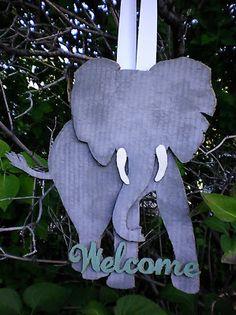 An Elephant's Welcome {cardboard sign} | just Lu, iamjustlu.com