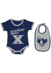 Colosseum Xavier Baby Navy Blue Logo Creeper with Bib