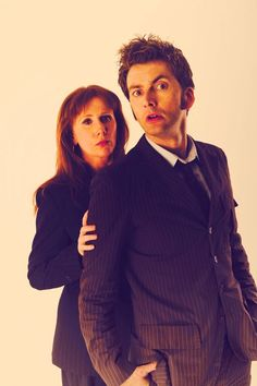 Catherine Tate as Donna Noble and David Tennant as The Doctor. I love Donna Noble; my most favorite Companion! Doctor Who Series 4, Doctor Who 10, 10th Doctor, Matt Smith, David Tennant, Science Fiction, Catherine Tate, Donna Noble, Don't Blink