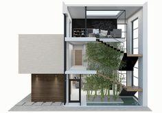 Lake residential house on Behance