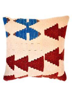 "16"" Kilim Pillow, Tribal Totem II"