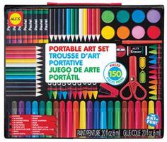 ALEX Toys Artist Studio Portable Art Set for Draw Paint Color Craft for sale online Utrecht, Art Sets For Kids, Alex Toys, Craft Day, Christmas Toys, Christmas 2014, Best Artist, Art World, Colored Pencils
