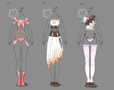 Some Outfit Adopts #12 - sold by Nahemii-san.deviantart.com on @deviantART