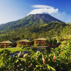 Volcan Arenal in La Fortuna Costa Rica ❤️ I lived close to this one when I was small, but there are currently 7 active volcanoes in Costa Rica
