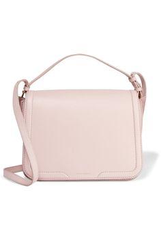 Dolce & GabbanaSuede-paneled textured-leather shoulder bag