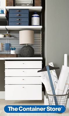 Working From Home Just Got Even More Appealing Thanks To Our Gorgeous New  Elfa Drawer Fronts. Office ShelvingElfa ...